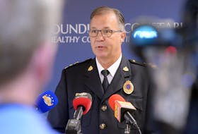 Royal Newfoundland Constabulary Supt. Tom Warren addresses the media July 21 in St. John's regarding more allegations of sexual assault by police officers on the force. Keith Gosse • The Telegram