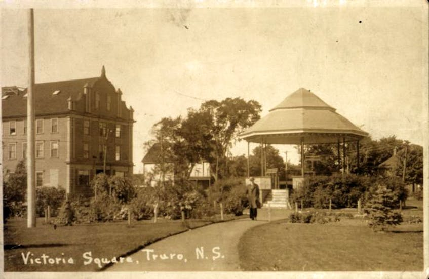 Victoria Square as it looked in bygone days.
