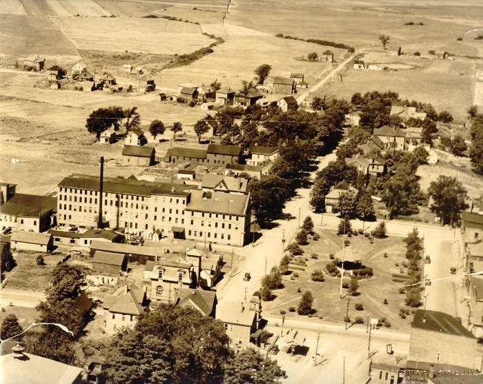 Aerial view of Victoria Square, 1931.