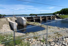 Work will soon resume on the Tusket Dam project. The next step involves lowering the Lake Vaughan Reservoir and Gavels and Kings Lakes to their natural level. This will take place starting the week of July 26. BRENDA J. TATE PHOTO