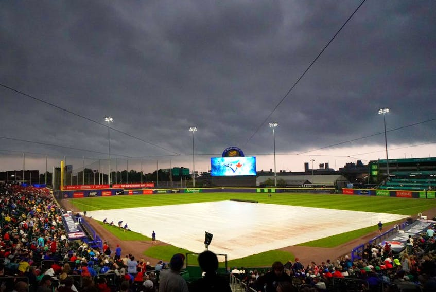 The scheduled game between the Toronto Blue Jays and the Boston Red Sox at Sahlen Field in Buffalo on July 20, 2021 was postponed due to inclement weather.