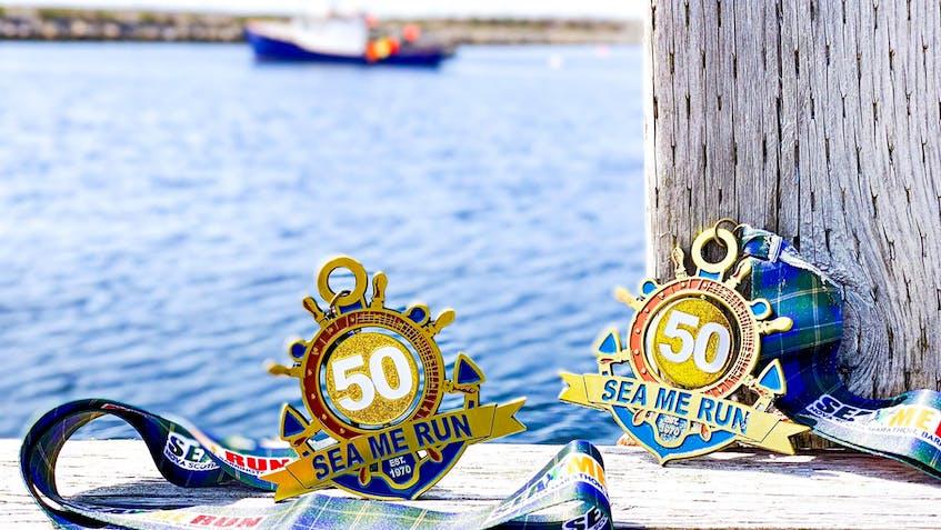 The 50th anniversary participation medal for the Nova Scotia Marathon, Half Marathon, 10k and 6k. CONTRIBUTED