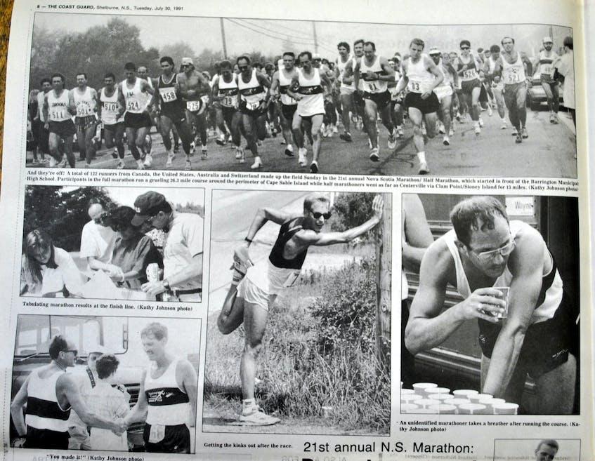 Photos from the 1991 Nova Scotia Marathon published in the Shelburne County Coast Guard. KATHY JOHNSON