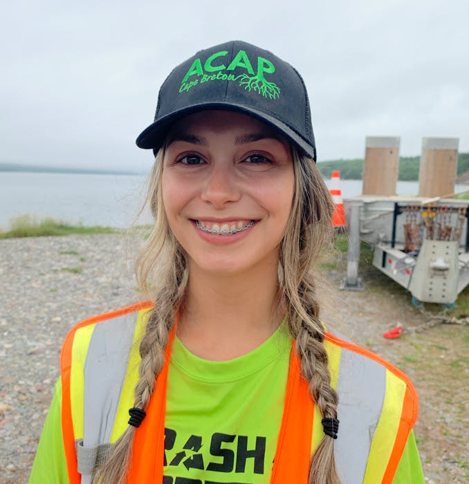 Emma Wrathall is team lead of ACAP Cape Breton's Trashformers team. Chris Connors/Cape Breton Post