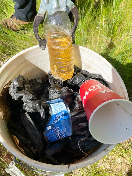 Ally Chant, a projector co-ordinator at ACAP Cape Breton, said the non-profit's Trashformers team has collected an unprecedented number of urine-filled bottles, as well as soiled adult diapers and used feminine hygiene products, so far this summer. Contributed