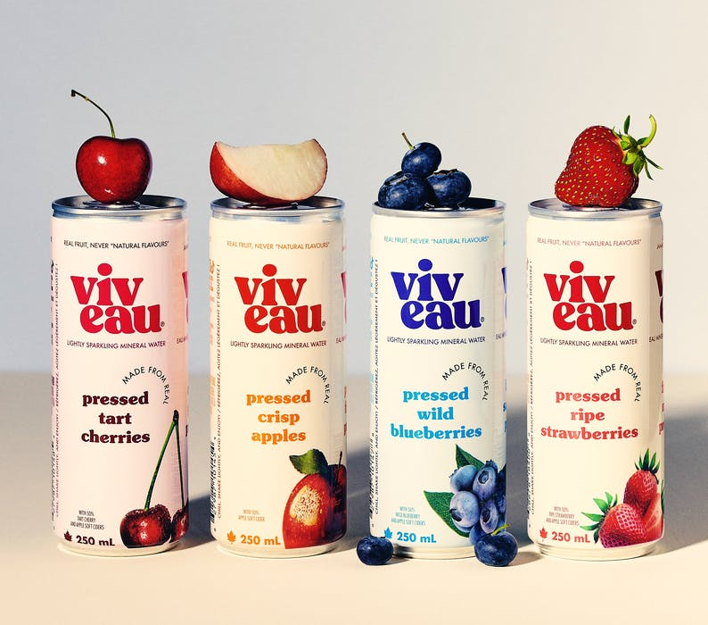 Viveau, the Nova Scotia producer of drinks made from mineral water and local fruit, is introducing new packaging and a new flavour.