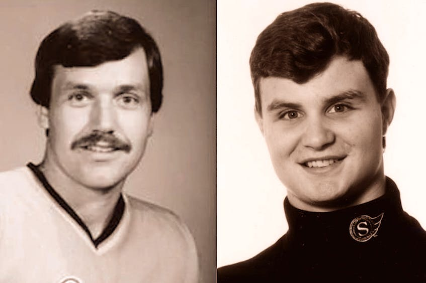 Clarenville's Bob Gladney and Chad Penney of Labrador City (right) were second-round NHL draft picks, but had Gladney's and Penney's draft year been 2021, with 32 selecting teams, they would have been first-round picks. — File