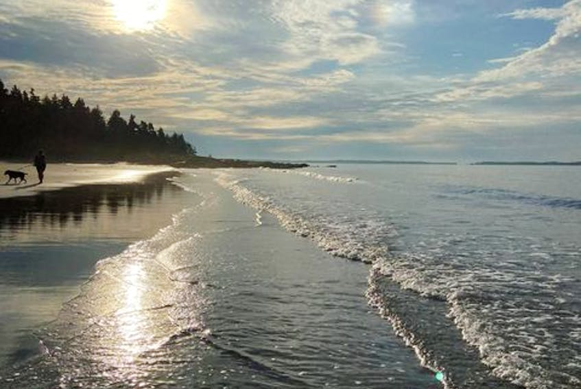 """Gloria Jean Little sent this photo of Risser's Beach, N.S. """"I'm from New Brunswick and let me just say I am in love with so many of your beaches…..my son and his wife live in Mineville and we visit lots when we can. Lawrencetown Beach is very close to them."""""""