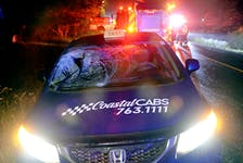 One man was taken to hospital after he was struck by a taxi in Torbay Thursday night. Keith Gosse/The Telegram