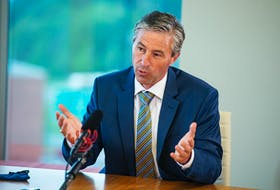 Progressive Conservative leader Tim Houston attends an editorial board meeting at the Chronicle Herald on Thursday, July 22, 2021.