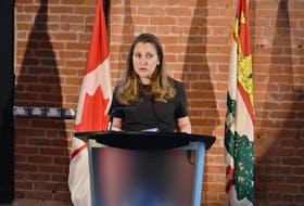 Chrystia Freeland, deputy prime minister and minister of finance, announces $48.5 million in funding for Atlantic Canadian tourism businesses through ACOA as part of the federal tourism relief fund.