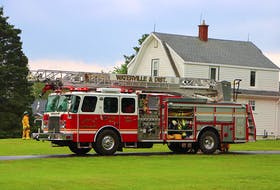 Waterville Fire Department were called out to a house which was struck by lightning around 4:30 p.m. Wednesday. Fire Chief Wayne Johnstone said there was no serious damage from the strike. Adrian Johnstone