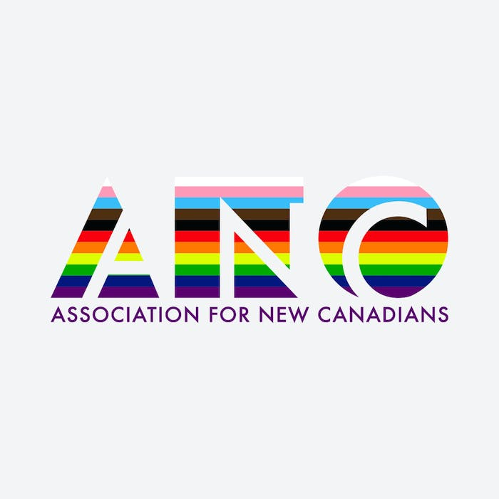 This new logo was designed for the Association for New Canadians Welcome Rainbow project.