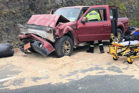 At least one person suffered undisclosed injuries in an accident on the Outer Ring Road in St. John's on Thursday, July 22, 2021.