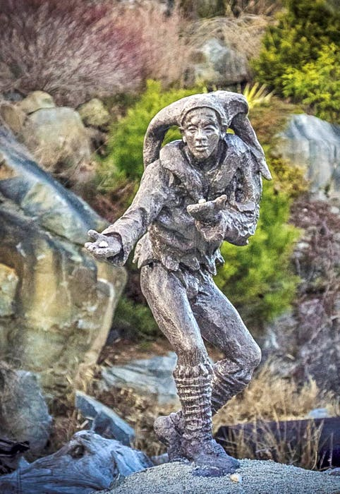 Local artist Ivan Higgins has created more than 25 intricate concrete sculptures that visitors can enjoy as they walk through a winding forest trail in Liverpool, N.S.