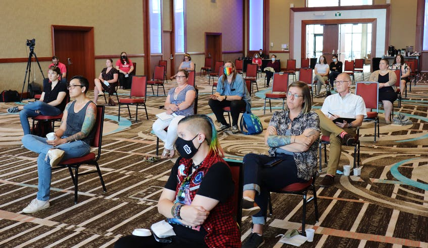 Pride Talks #1 was a panel discussion about mental health supports for the queer community held at the Delta Hotel on July 19  in Charlottetown. - Logan MacLean