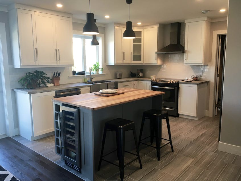 Don't be afraid to mix-and-match in kitchen design, says Krista Pippy with Dream Kitchens in Portugal Cove-St. Philips, N.L. She says she's seeing a lot of people opt to go with a natural blonde wood on an island.
