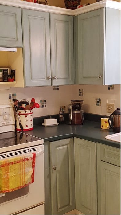Cathy Reid, owner of Absolutely Fabulous at Home in New Minas, N.S., says refinishing your kitchen cabinets yourself is a lot easier than you might think.