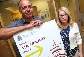 Alan Abraham and his wife Pat were witnesses from flight 507 from Rome at the oral hearing to allow the CTA to hear evidence from witnesses regarding the Air Transat Flights 157 and 507 tarmac delays at the Ottawa MacDonald-Cartier International Airport on July 31, 2017.