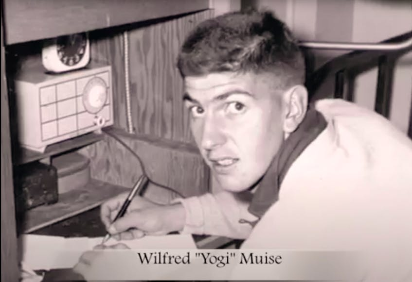 Yogi Muise in younger years. Muise worked in the coal mines and was in the air force before beginning a 30-year teaching career. - CONTRIBUTED