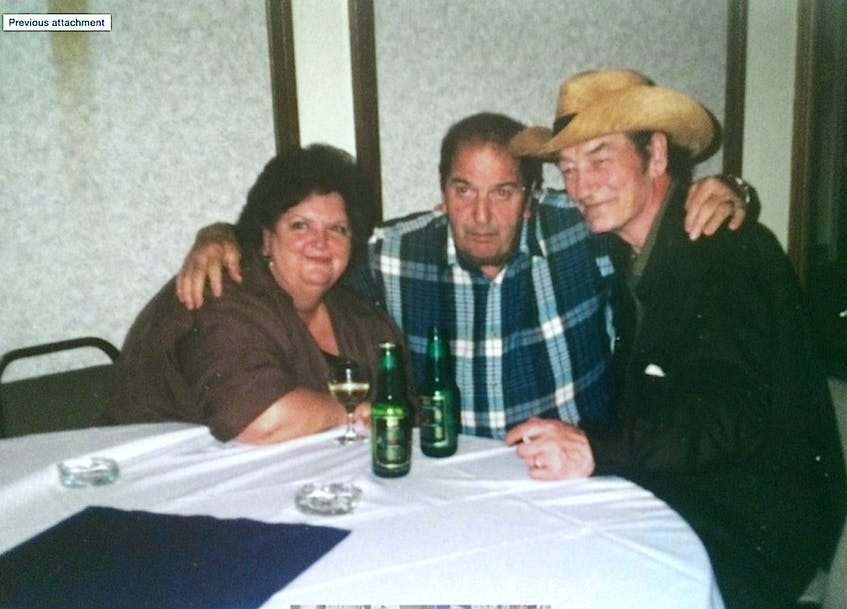 """Yogi Muise, centre, and """"Stompin' Tom"""" Connors, while on tour with Rita MacNeil in Ontario. CONTRIBUTED"""