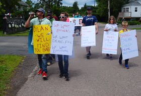 Demonstrators marched from Elizabeth Street to the Truro Police Service station in Truro, N.S. for the second time in a week, and they said they will be back. The march is in honour of Dylan Ehler, a boy who was three when he disappeared in May of 2020 outside his grandmother's house.