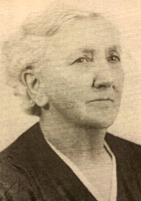 Margaret Anne Downer in 1941. She was born on Fogo Island in 1872 and died in the Santa Cruz province of Argentina in 1967. She was Manuel Velázquez Walker's great-great-grandmother.