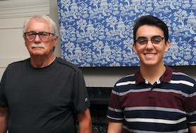 Don Downer (left) and Manuel Velázquez Walker were born in Newfoundland and Argentina, respectively, but they're distantly related due to a family from Fogo Island that immigrated to the South American country's Patagonia region more than 100 years ago.