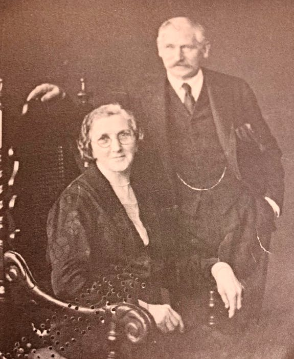 Margaret Anne Downer and her husband, Bill Downer, in 1930, 16 years after they had married and left Newfoundland.