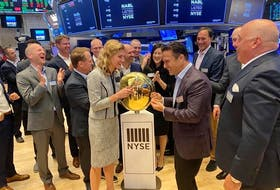 N-able executives and employees celebrate the company's IPO at the New York Stock Exchange on July 20, following its spinoff from Texas-based SolarWinds. Photo provided by N-able.