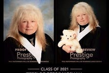 Middleton's Terri Marshall is beaming with pride after graduating from high school at 50 years old. Although she couldn't afford to purchase grad photos, these proofs serve as a reminder of how far she has come in life.