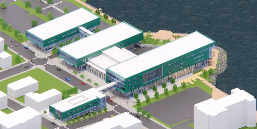 A rendering of what the new Nova Scotia Community College Marconi Campus will look like when completed. CONTRIBUTED