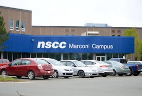 The Nova Scotia Community College Marconi Campus front door of their current location, off of Grand Lake Road in Sydney. CAPE BRETON POST FILE