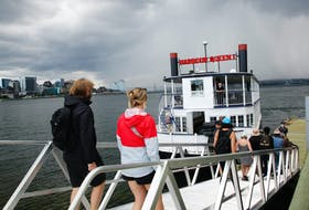 FOR JEN TAPLIN STORY: Visitiors depart via the Harbour Queen, following a tour at George's Island National Historic Site  Friday July 23, 2021.  TIM KROCHAK PHOTO