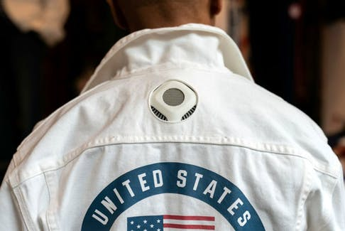 A former flag bearer and 6-time Olympian Peter Westbrook presents the official Opening Ceremony uniforms of the United States team designed by Ralph Lauren, for the Tokyo 2020 Olympics, during an event in New York City, New York, U.S., July 14, 2021.