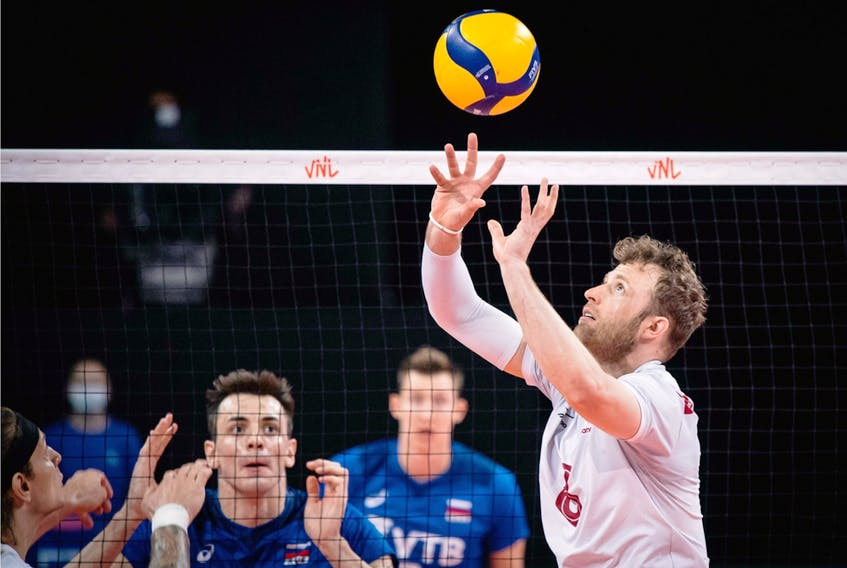 Sherwood Park's Jay Blankenau, a setter with Team Canada, is one of seven players returning to the Olympic Games tournament in Tokyo.