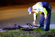 A teenage male was taken to hospital Friday night after he was struck by an SUV. Keith Gosse/The Telegram