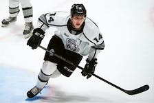 Officially, Zach Deam is the 30th pick in the 2021 NHL Entry Draft. In reality, the Vegas Golden Knights took the young Newfoundlander 29th overall in Friday night's first round. That's because the Arizona Coyotes forfeited the 11th pick because of transgressions involving NHL Scouting Combine rules. — Gatineau Olympiques photo