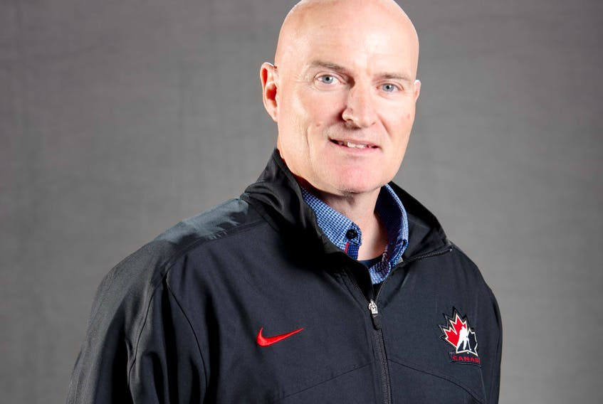Dr. R.J. MacKenzie of Albert Bridge is in Calgary this week for Hockey Canada's Program of Excellence Under-18 Summer Showcase. The 54-year-old will be the programs team physician for the event. PHOTO CONTRIBUTED/HOCKEY CANADA.