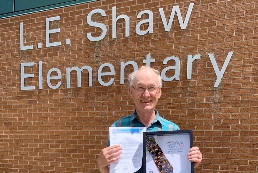 Wayne Ettinger is the custodian at L.E. Shaw Elementary School in Avonport, N.S. Last May, he was awarded the Dr. Robert Strang Community Hero Award for his work at the school during the pandemic. Contributed