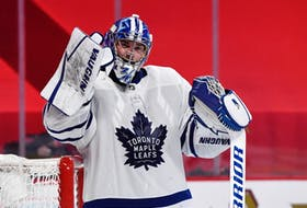 It appears that the Maple Leafs are comfortable forging ahead with Jack Campbell as their starting goalie.