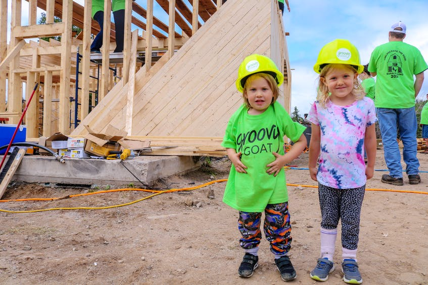 Watson Costelo, left, and Quinn Costelo, nephew and niece of Shannon and Ryan Costelo, are the littlest members of the Groovy Goat volunteer team. JESSICA SMITH/CAPE BRETON POST
