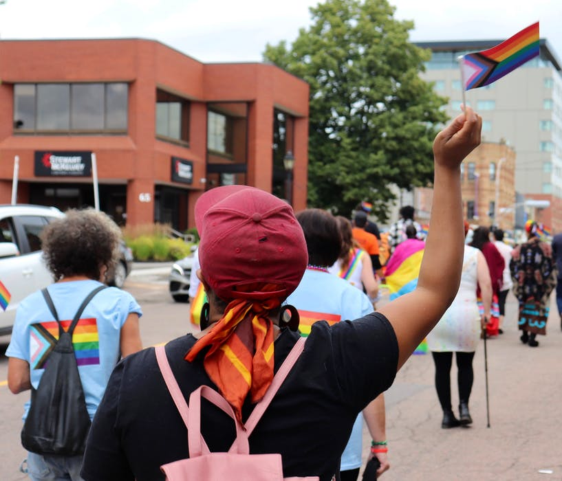 The Pride P.E.I. march route started at Rochford Square in downtown Charlottetown, went past Province House and ended beside Founder's Food Hall. - Logan MacLean