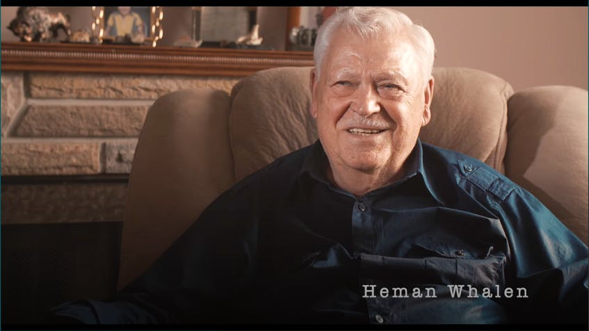 Former wildlife officer Heman Whalen, who served as Johnny Cash's guide on a hunting trip near Millertown, Newfoundland in 1961, is pictured in a shot from filmmaker Jonathan Holiff's upcoming documentary,