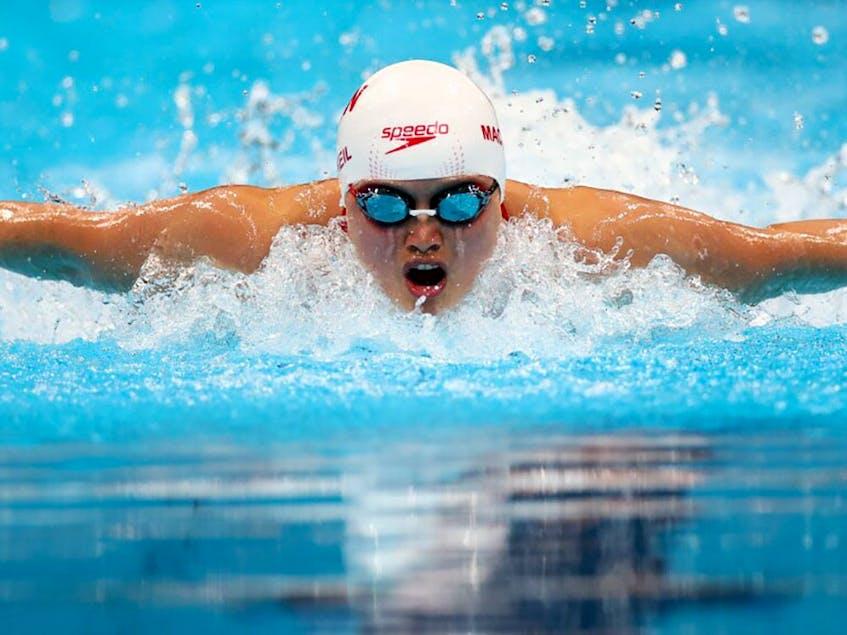 Maggie Mac Neil already won a silver medal on Saturday in the 4x100m relay. - Kai  Pfaffenbach