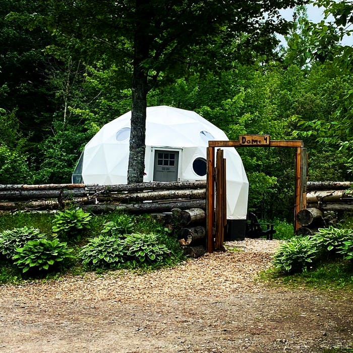 Ridgeback Lodge in Kingston, N.B., focuses on helping visitors disconnect from stress and reconnect with loved ones. Guests at the adult-only retreat can stay in one of the dream domes.