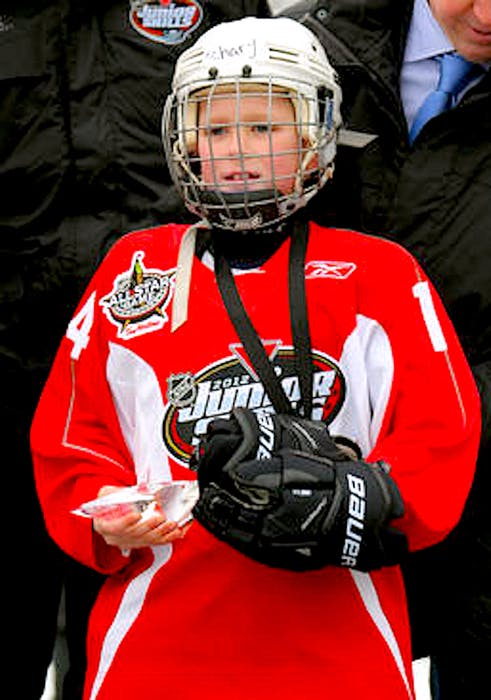 You could say the National Hockey League first took notice of Zach Dean nearly a decade ago. In this Jan. 28, 2012 file photo, a nine-year-old Dean poses with his trophy after winning the novice boy division at the Canadian Tire NHL Junior Skills competition, held as part of the NHL All-Star weekend in Ottawa. — File photo/Dave Sandford/NHLI via Getty Images