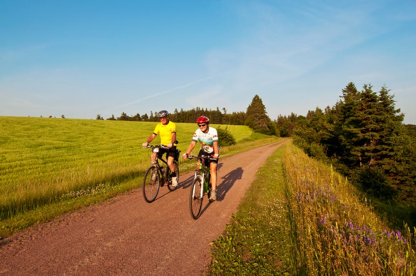 Ruth DeLong says Prince Edward Island's Confederation Trail is accessible to people of all abilities, thanks to its flat and straight design. On top of that, it also boasts incredible views. - Photo Courtesy Paul Baglole photo