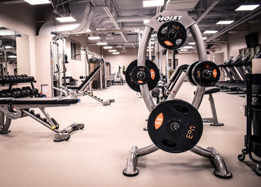 A set of weights sits on the rack at the Berwick Fitness Centre. The Berwick & District Community Association operates the fitness centre and manages access to the walking track. Contributed