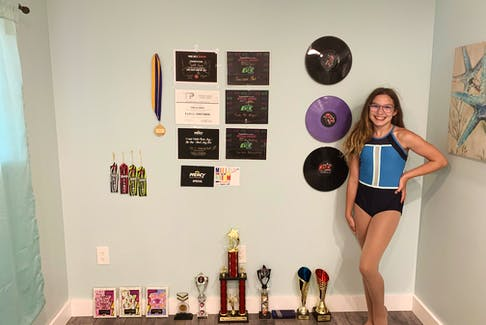 Isabella Forrest, 12, has accumulated numerous awards at dance competitions since she starting taking classes at Northside Dance eight years ago. CONTRIBUTED
